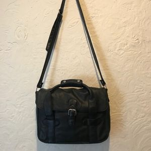 Olsenboye Black Faux Leather Crossbody Bag